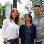 """Das Projektteam """"Zukunft der Dörfer"""" (Christine Lorenz-Lossin, Simone Israel, Marcel Schroer) auf dem Weg zu Auftaktveranstaltung"""